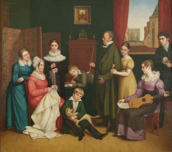 Carl Joseph Begas(se) d. Ä.<br /> Die Familie Begasse, 1821