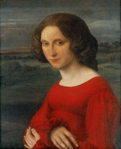 Carl Joseph Begas d. Ä.<br /> Mädchenbildnis (Fanny Mendelssohn?), um 1821
