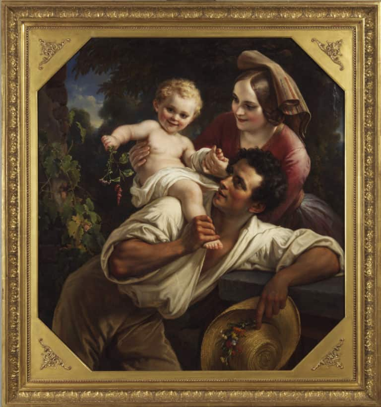 Carl Joseph Begas d. Ä. <br /> Die Winzerfamilie, 1850