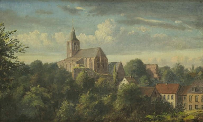 Oskar Begas, Ansicht von Sankt Gangolf in Heinsberg, 1851